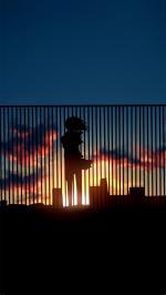 Hình nền anime buồn cho điện thoại của nữ - Hình 2