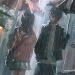 Những hình ảnh anime khóc dưới mưa buồn nhất, đẹp nhất - Hình 9
