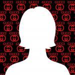 Avatar Facebook mặc định nữ trên nền thương hiệu Gucci