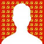 Avatar Facebook mặc định nam trên nền đảng