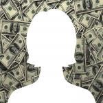 Avatar Facebook nữ mặc định đã đổi nền tiền đô la